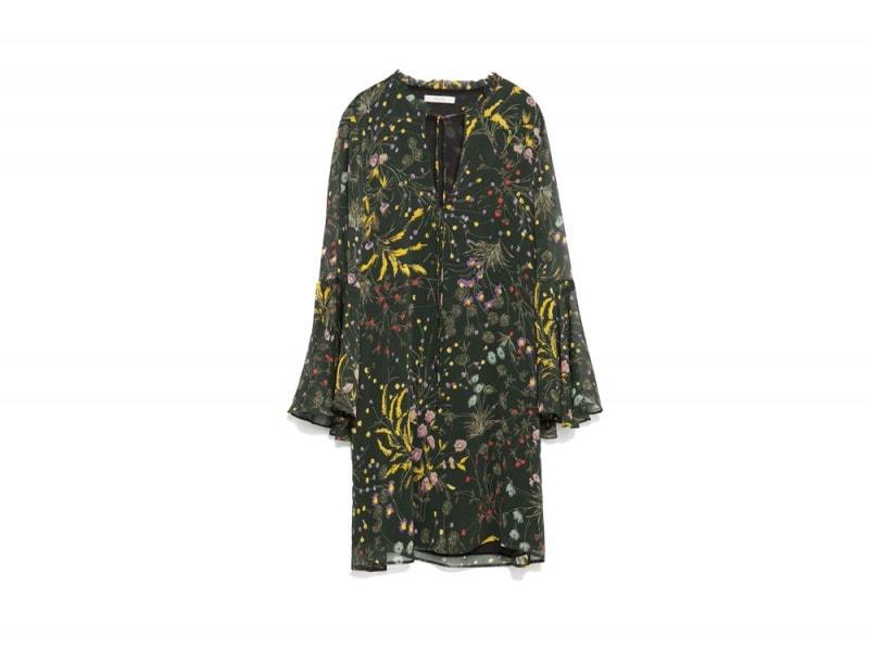 abito corto a fiori zara