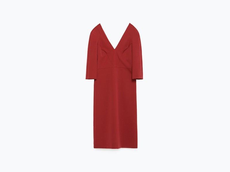 abito rosso zara