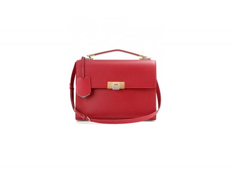 borsa pelle rossa balenciaga