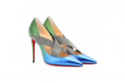 christian louboutin decollete bicolor metal