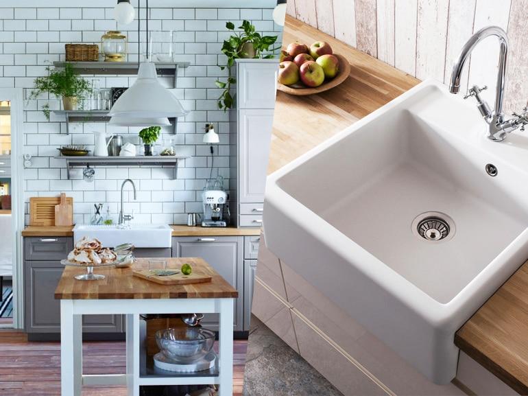 10 lavelli di design per una cucina bella e funzionale - grazia.it - Cucine Acciaio Ikea