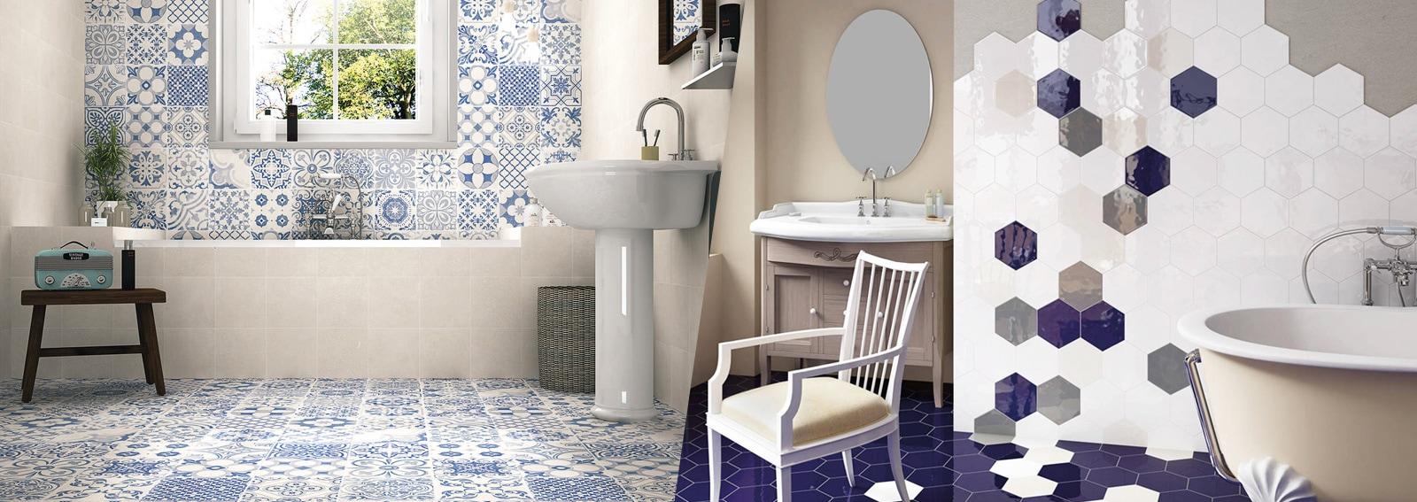 Rivestimenti per il bagno 10 idee decor da copiare - Piastrelle per bagno moderno ...