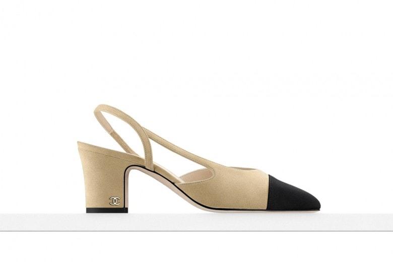 La vera scarpa-icona? La slingback bicolore di Chanel