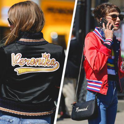 Street style trend: la varsity jacket