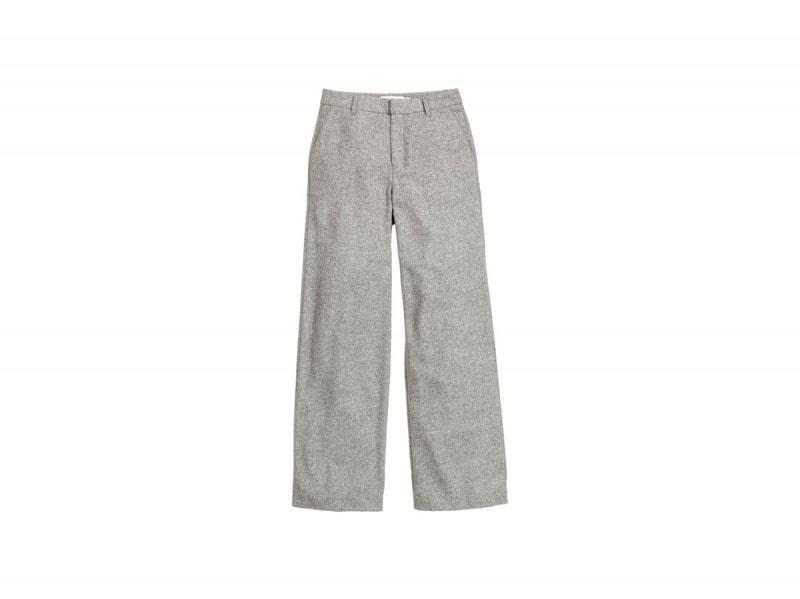 h&M pantaloni grigi larghi
