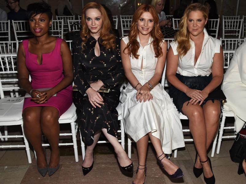 jennifer-Hudson,-Christina-Hendricks-Bella-Thorne-and-Amy-Schumer da zac posen GETTY