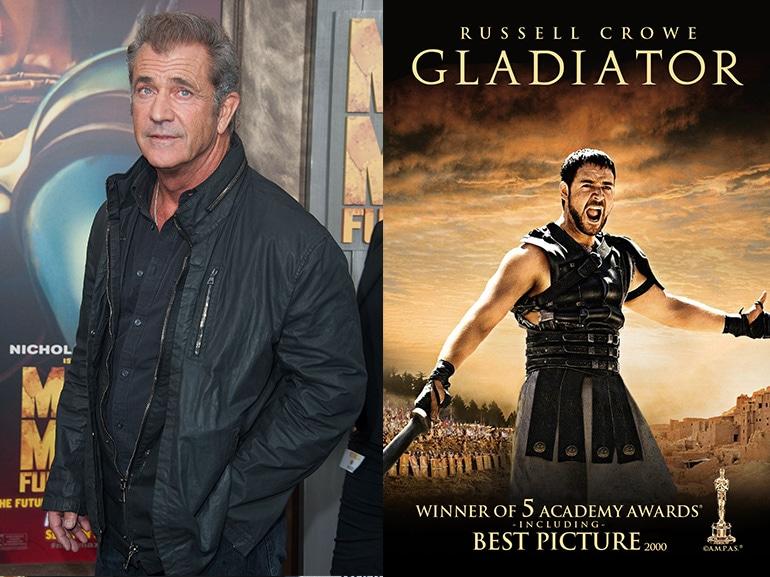 mel gibson rifiuto gladiatore