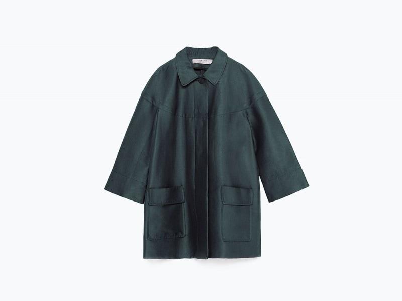 zara giacca leggera verde
