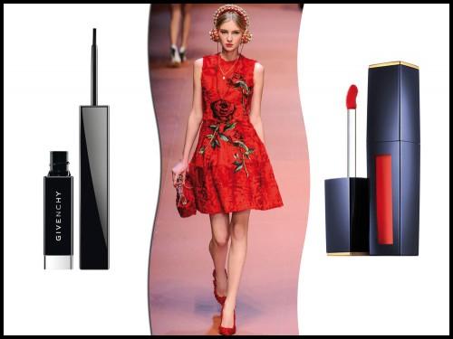 32915cf1a376 Abito rosso con stampa floreale Questo abito corto è ispirato alla rosa
