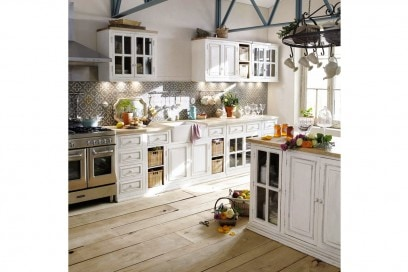 Legno bianco in cucina