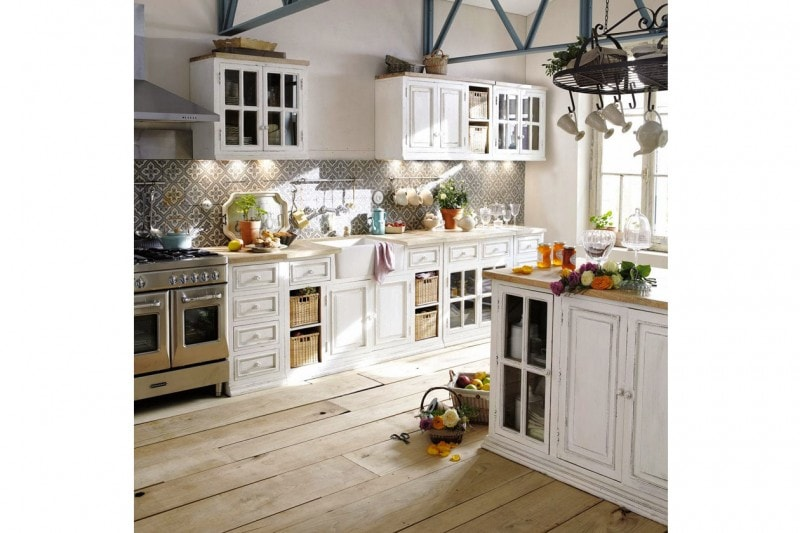 come arredare la cucina in stile shabby chic grazia