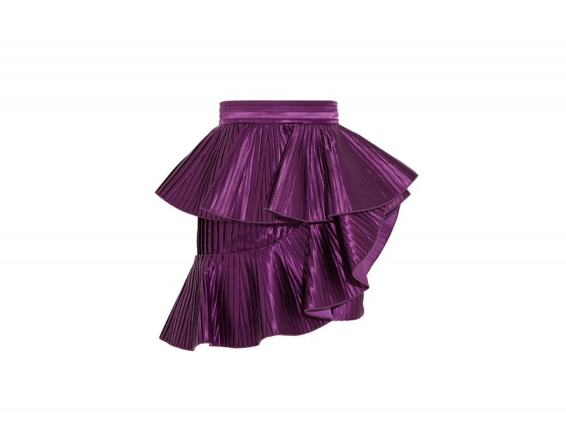 BALMAIN-Ruffled-plisse-satin-mini-skirt_NET