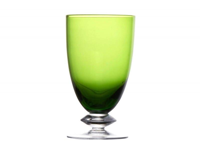 Bicchiere in vetro verde