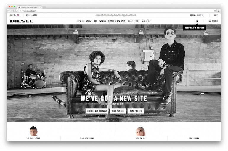 Diesel Flagship Website