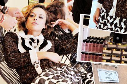 Valeria Bilello: il backstage del servizio fotografico a Roma con Chanel