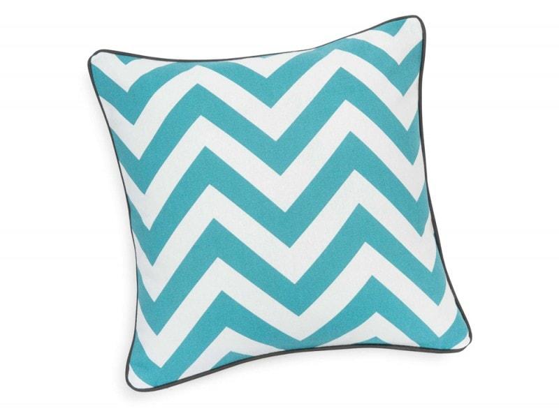 Fodera di cuscino blu vintage
