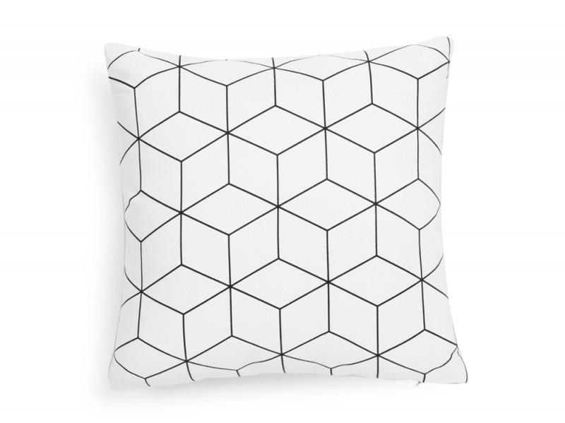 Fodera di cuscino in tessuto bianca