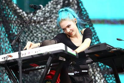 Grimes-on-stage_Getty