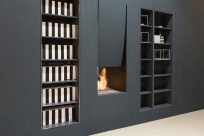 Wood fireplace / original design / open hearth