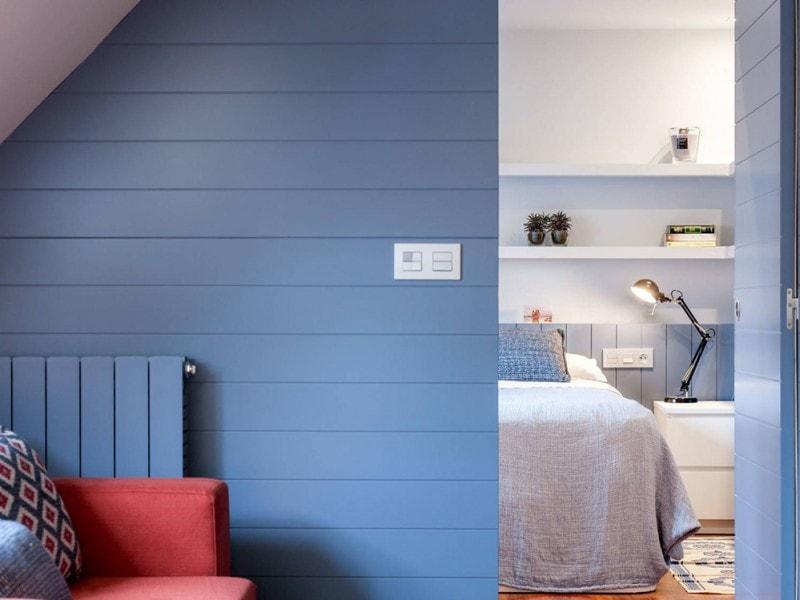 La parete della camera da letto