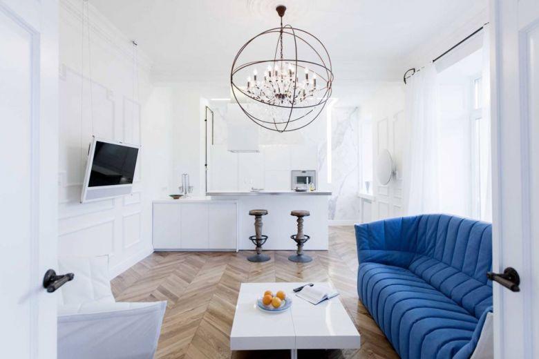 Mosca: un appartamento essenziale e chic
