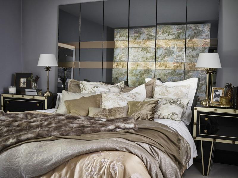 Opulenza anche in camera da letto