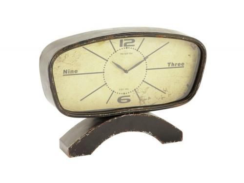 Orologio da tavolo in ottone e legno di diehl anni in vendita