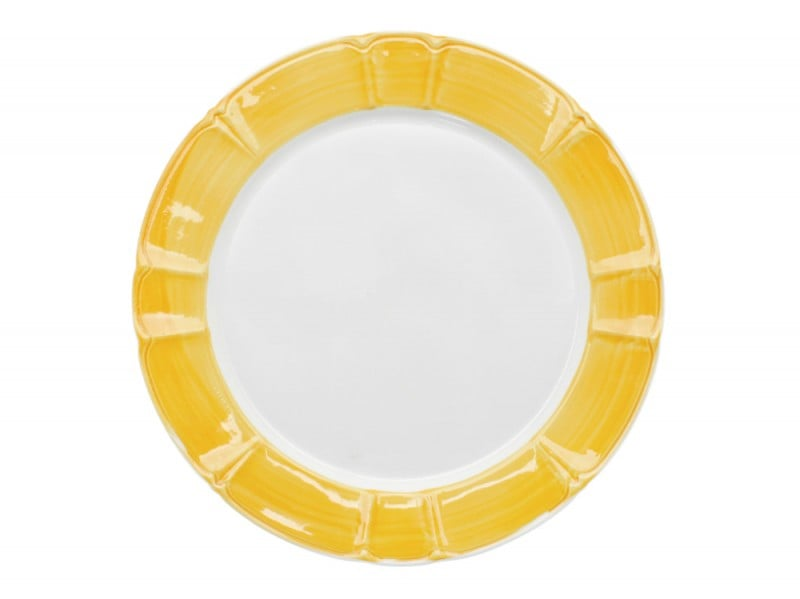 Piatto con bordo giallo
