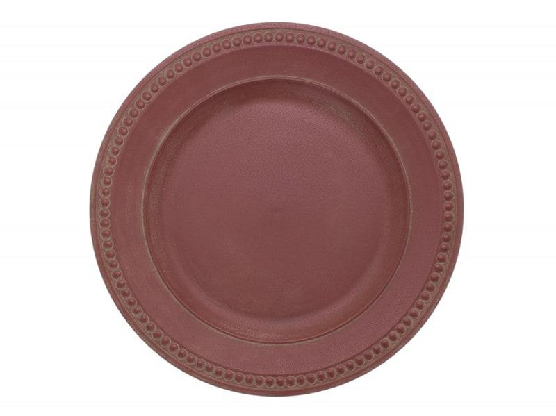 Piatto in ceramica bordeaux
