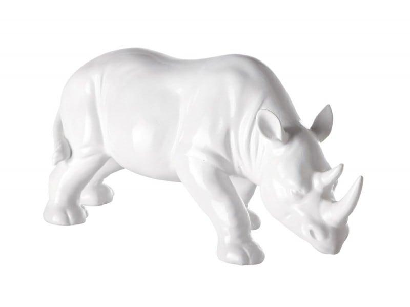 Rinoceronte bianco in resina