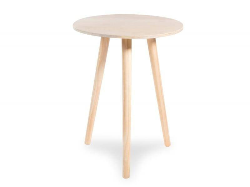 Tavolino da divano rotondo in legno