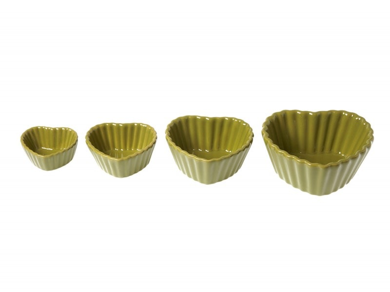 Teglie in ceramica a forma di cuore