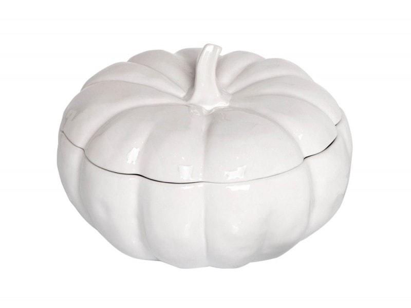 Zuppiera a forma di zucca in ceramica