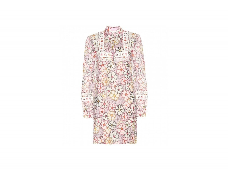 abito corto fiori giamba