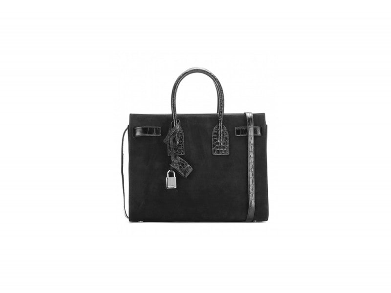 borsa pelle nera saint laurent