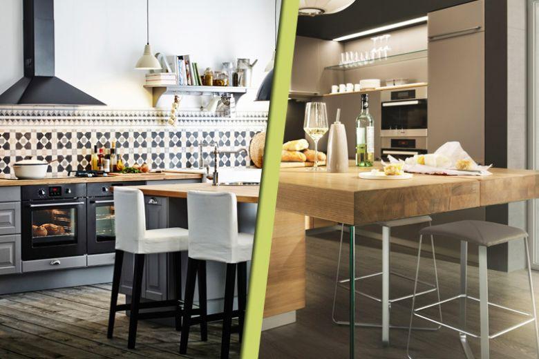 Cucine con piano di lavoro in legno: i modelli più belli
