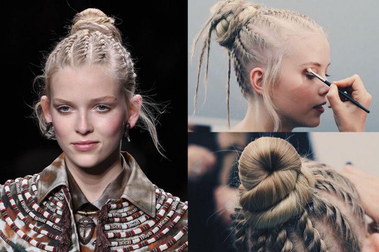 Valentino: stupisce sulla passerella con capelli rasta e treccine afro