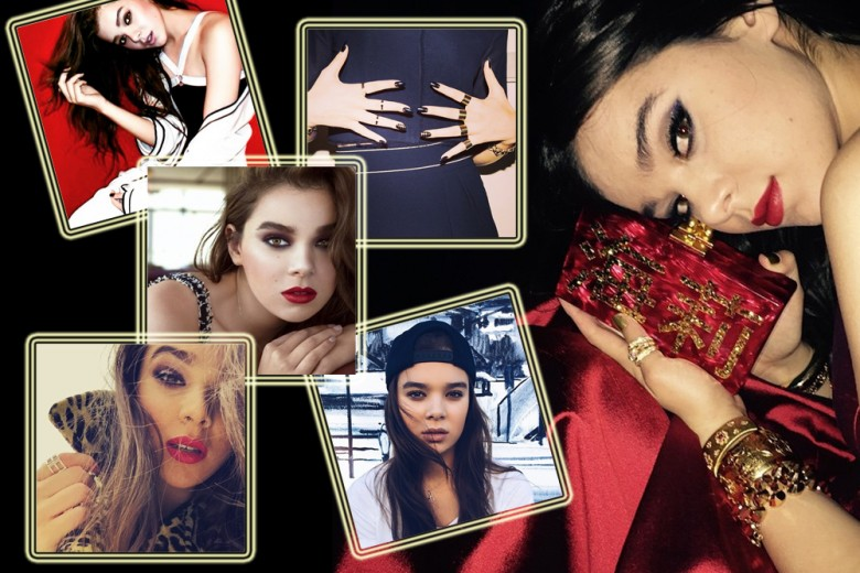 Hailee Steinfeld make up: i beauty look più belli con smokey eyes e rossetto rosso