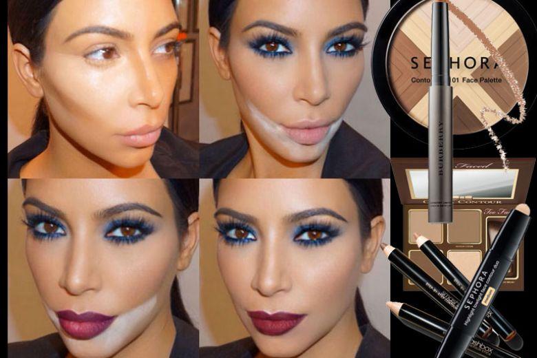 Il contouring secondo Kim Kardashian