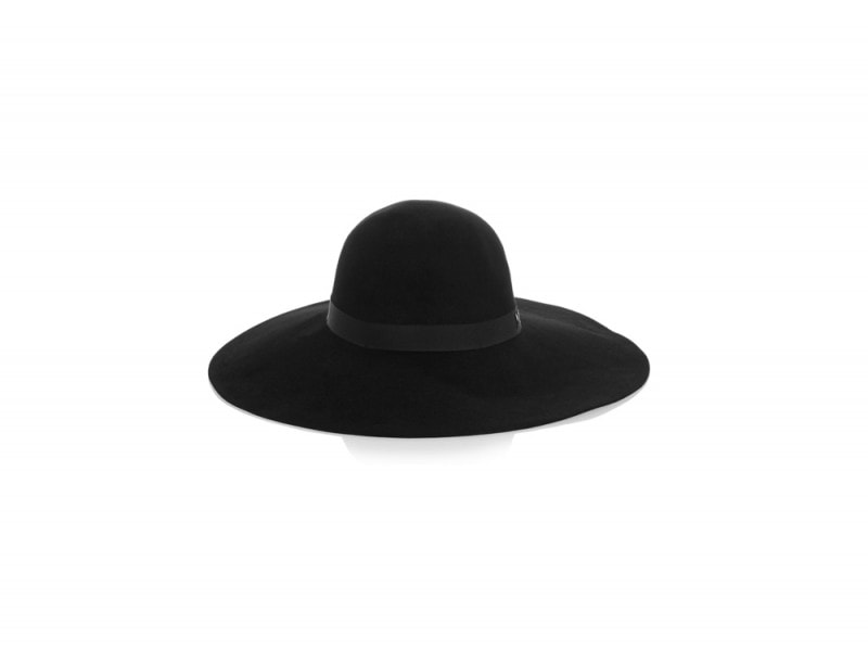 maison-michel-cappello-nero-tesa-larga