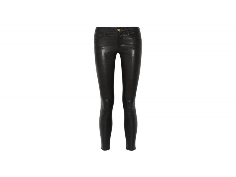 pantaloni di pelle frame denim