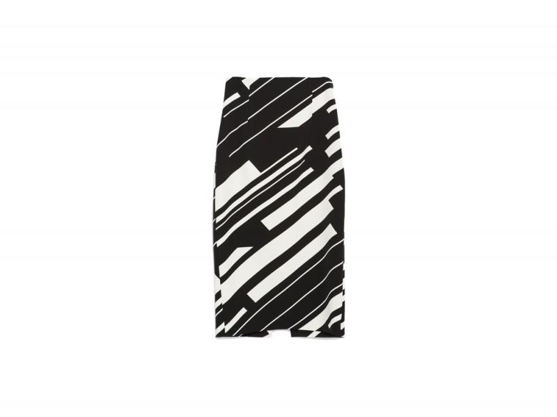 pencil skirt stampata zara