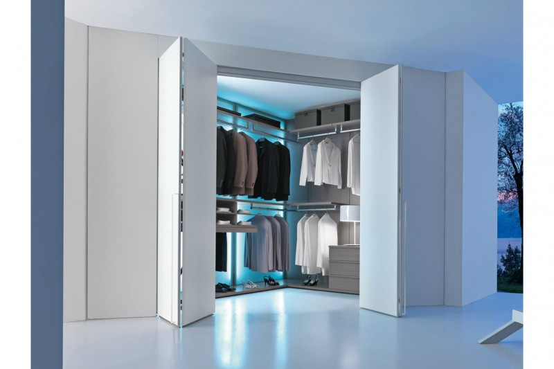 Come realizzare la perfetta cabina armadio - Camere da letto con cabina armadio angolare ...