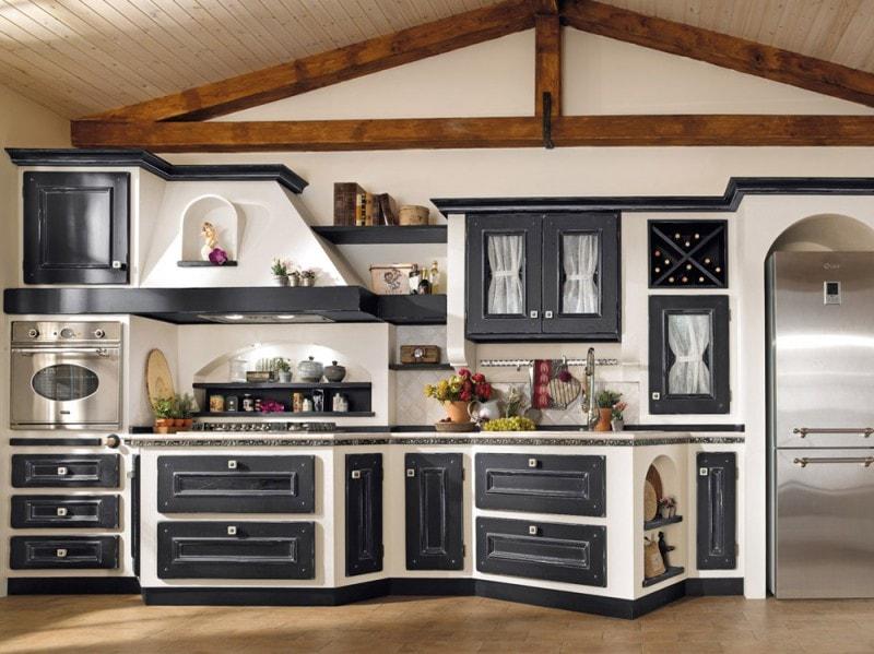 Cucine in muratura classiche rustiche e country - Cucine particolari in muratura ...