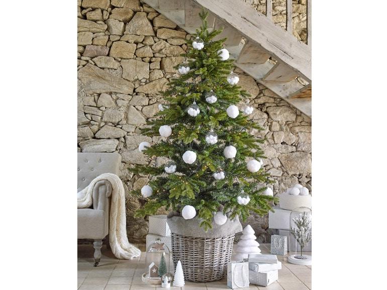Addobbi argento albero natale