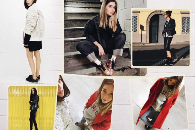 Le it-girls indossano le Nike Cortez