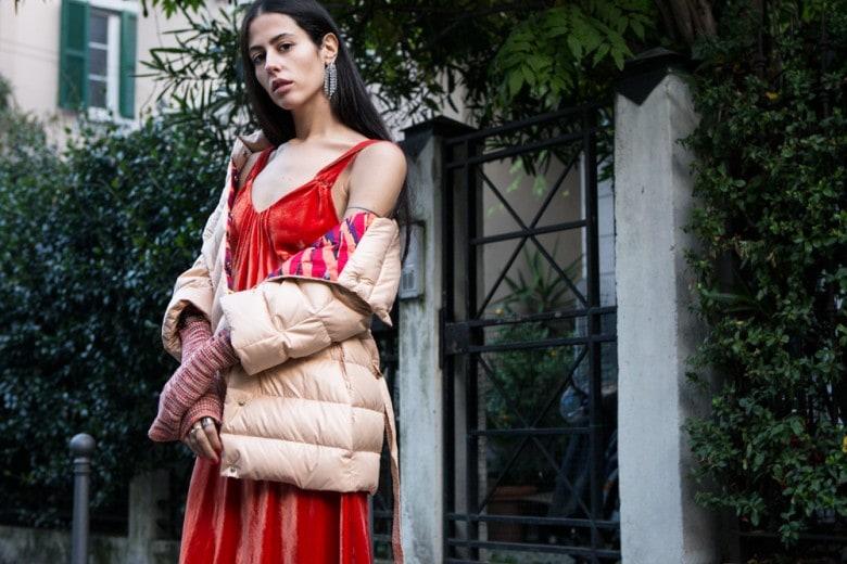 La It-girl Gilda Ambrosio e i nuovi piumini M Missoni