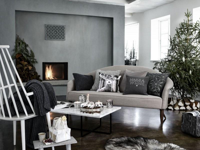 Grigio per il Natale scandinavo di H&m Home