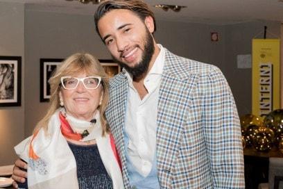 Il Direttore d'Interni Gilda Bojardi insieme a Pasquale Junior Natuzzi