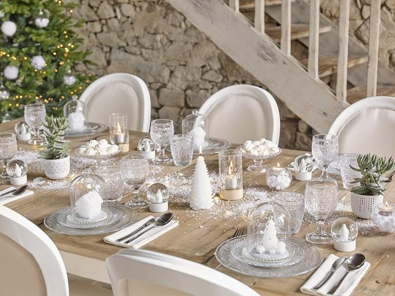 bianco natale: decorazioni total white per le feste - grazia.it - Decorazioni Natalizie Tavola